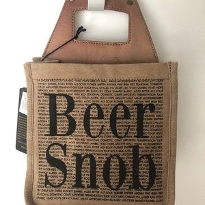 Beer Snob Bag Mona-B Gift Leather Canvas Case